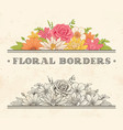 flower frame label vector image