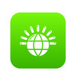 global communication icon green vector image