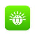 Global communication icon green