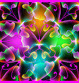 glowing abstract butterflies seamless pattern vector image vector image