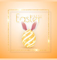 happy easter realistic easter eggs isolated vector image