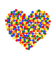 heart lgbt color pixel art lgbt community vector image