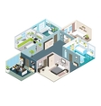 Isometric House Interior View vector image vector image