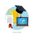 Knowledge collected from around the world concept vector image vector image