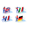 language school and courses vector image
