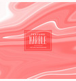 liquid marble texture in red pastel color vector image vector image