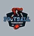 logo design football tournament 2020 vector image vector image