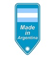 Made in Argentina icon vector image vector image