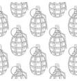 military grenade hand drawn sketch seamless vector image