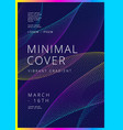 minimal covers design vector image vector image