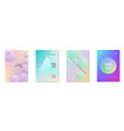 minimal shapes cover set with holographic fluid vector image vector image