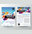 modern brochure cover flyer poster design layout vector image vector image