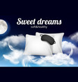 night dreams poster relax concept placard vector image