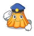 police skirt fashion design woman a cartoon vector image