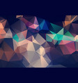 polygon abstract modern polygonal geometric vector image vector image