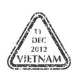 postal stamp from vietnam vector image vector image