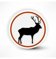 prohibited from shooting elk red mark on a white vector image