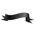 Realistic shiny black ribbon isolated on white vector image