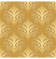 seamless gold silk wallpaper pattern vector image