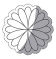 silhouette flower with petals icon vector image vector image