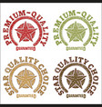 star quality seals drawn by hand vector image