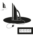 Steam iron icon vector image