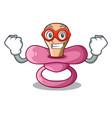 super hero newborn is sucking a pacifier cartoon vector image