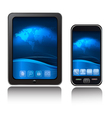 tablet computer and mobile phone vector image vector image