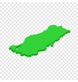 turkey map isometric icon vector image