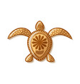turtle icon with traditional hawaiian vector image