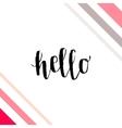 typographic handwritten phrase vector image vector image