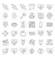 valentine dating love and romance line icon size vector image