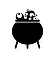 witch black cauldron vector image vector image