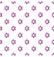 Geometric figure star pattern cartoon style vector image