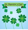 St Patricks Day concept on blue background vector image