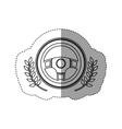 Isolated steering wheel design vector image