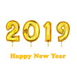 2019 new year count symbol balloon greeting vector image vector image