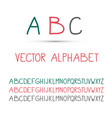 abc - alphabet set vector image