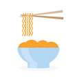 asia noodle bowl food vector image vector image