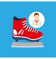 athlete medal ice skate icon graphic vector image vector image