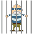 Bad guy in Jail vector image