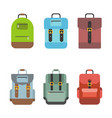 bag icon include rucksack backpack school bag vector image vector image