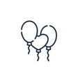 balloons icon isolated on white background vector image vector image