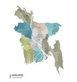 bangladesh higt detailed map with subdivisions vector image vector image