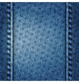 blue jean texture with stars background vector image vector image