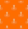 brazil statue pattern orange vector image vector image