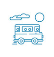 bus trip linear icon concept bus trip line vector image