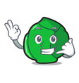 call me brussels mascot cartoon style vector image vector image