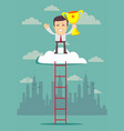 career people climb the stairs up at the top is vector image vector image