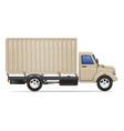 cargo truck 07 vector image vector image